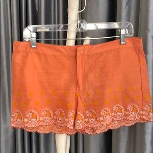 Calypso cotton tangerine/ orange coke shorts